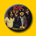 AC/DC Highway To Hell 1 Inch Button