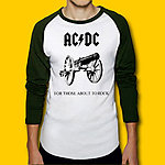 AC/DC For Those About To Rock 3/4 Sleeve Baseball Jersey