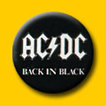 AC/DC Back In Black 1 Inch Button