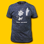 David Bowie Heroes Soft Heather Navy T-Shirt