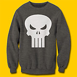 Punisher Logo Fleece Charcoal Heather Sweatshirt