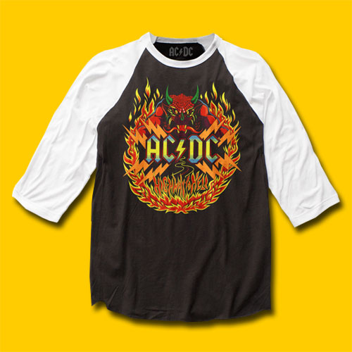AC/DC Highway to Hell Rock Baseball Jersey