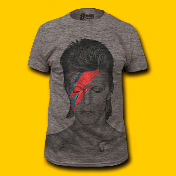 David Bowie Soft Heather Grey T-Shirt