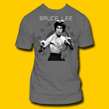 Bruce Lee Grey T-Shirt