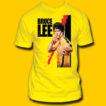 Bruce Lee Blood Yellow T-Shirt