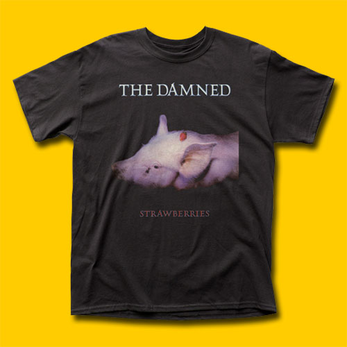 The Damned Strawberries Punk Rock T-Shirt