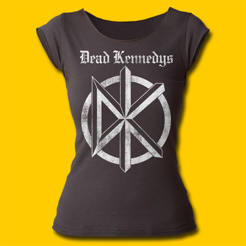 Dead Kennedys Distressed Old English Logo Girls Cut T-Shirt