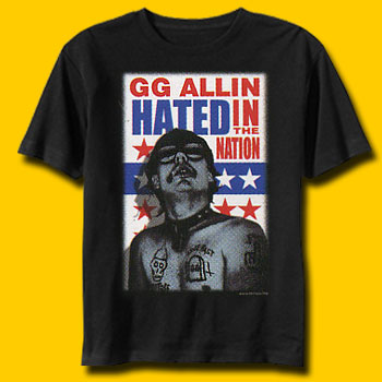 GG Allin Hated Punk Rock T-