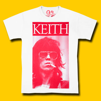 Keith Richards Sigarette white color Tee Shirt