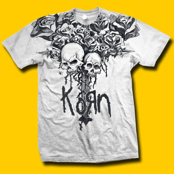 KORN Dead Bloom White T-Shirt