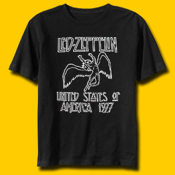 Led Zeppelin US Tour 77 Classic Rock T-Shirt