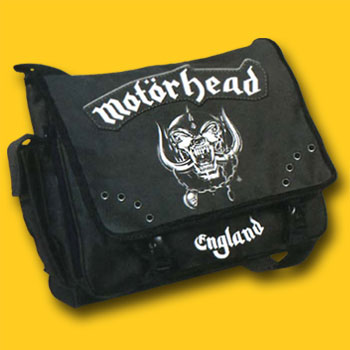 Motorhead Logo Canvas Messenger Bag