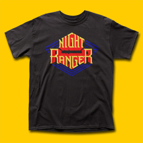 Night Ranger Logo Black T-Shirt