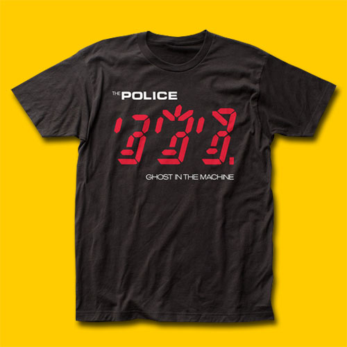The Police Ghost in the Machine Black T-Shirt