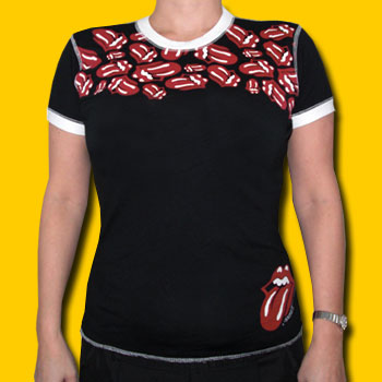 Rolling Stones Coverstitch Logos Girls Ringer