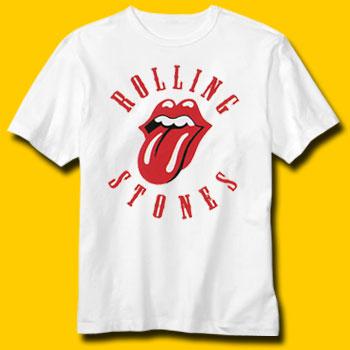 Shirt Rolling stones white