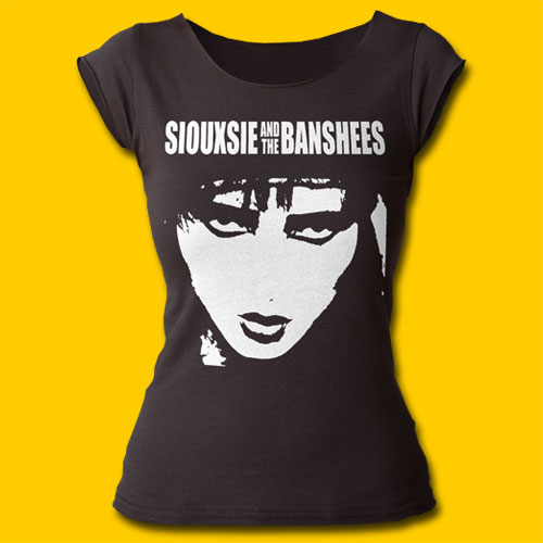 Siouxsie and the Banshees Face Girls Cut Vintage Black T-Shirt