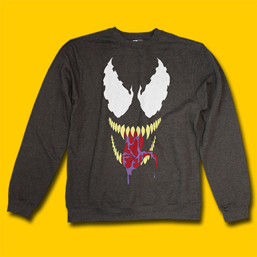 Venom Smile Feece Charcoal Heather Sweatshirt