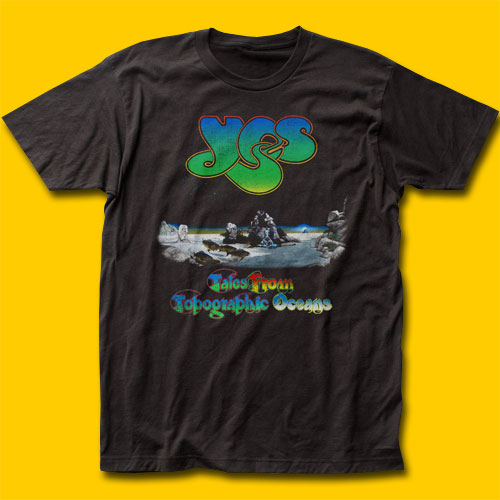 Yes Topographic Oceans Black T-Shirt