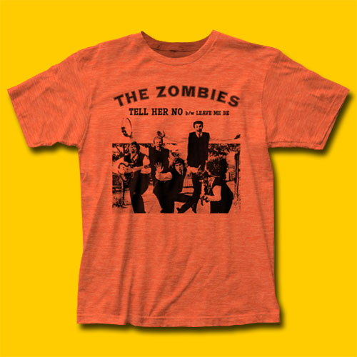The Zombies Tell Her No Heather Orange T-Shirt
