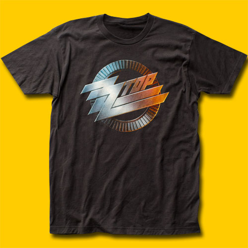 ZZ Top Logo Black T-Shirt