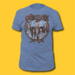 Aerosmith Dream On Heather Blue T-Shirt