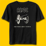 AC/DC Cannon-For Those About To Rock Classic Rock T-Shirt