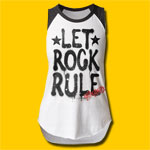 Aerosmith Let Rock Rule Girls Cut Raglan