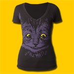 Alice's Adventures in Wonderland Mad Cat Girls V-Neck T-Shirt