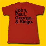 The Beatles John, Paul, George & Ringo T-Shirt