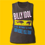 Billy Idol Rebel Yell Tour 1984 Vintage Black T-Shirt