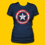 Captain America Shield Girls Jersey Tee
