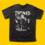 The Damned New Rose Punk Rock T-Shirt