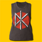 Dead Kennedys Distressed Logo Girls Sleeveless Muscle Tank