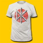 Dead Kennedys Distressed Logo Vintage White T-Shirt