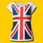 Def Leppard Union Jack Full Print Girls Cut T-Shirt