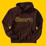The Doors Logo Brown Hooded Sweatshirt