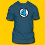Fantasic Four Blue T-Shirt