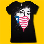 Green Day Flag Mask Girls Jersey Tee