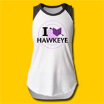 Hawkeye I Love Hawkeye Girls Tank