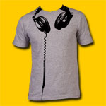 Headphones Heather Grey T-Shirt