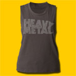 Heavy Metal Girls Vintage Black Muscle Tank