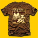 Jimi Hendrix Live at Berkeley Fitted Jersey T-Shirt