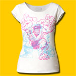 Hulk Charging Girls Cut T-Shirt