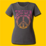 Janis Joplin Peace Girls Crew T-Shirt