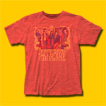 Jefferson Airplane Group Heather Red T-Shirt