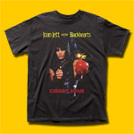 Joan Jett Cherry Bomb Black T-Shirt