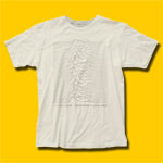 Joy Division Unknown Pleasures Vintage White T-Shirt