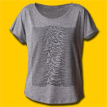 Joy Division Unknown Pleasures Girls Premium Heather Grey T-Shirt
