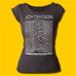 Joy Division Unknown Pleasures Girls Cut Black T-Shirt